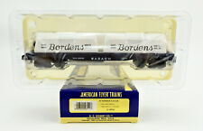 """AMERICAN FLYER S SCALE 48524 WABASH FLATCAR WITH """"BORDENS"""" CONTAINER #25535"""