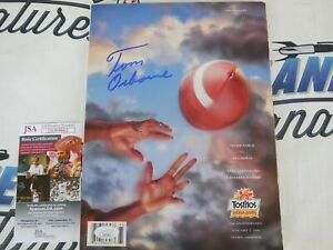 Tom Osborne signed 1996 Fiesta Bowl program Nebraska Cornhuskers JSA COA