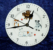 Dogs wall clock porcelain wall clock with serveral different fun dog breeds pics
