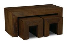 Living Room Mango Dark Long John 100cm Table Nest (h43d)