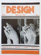 Design Magazine 1941 February Jewelry, Etchings, Mosaic Art, Abstract Film