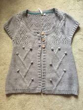 Stunning White Stuff Short Sleeved Wool Cardigan Used Size 12