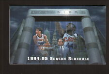 Cleveland Cavaliers--Daugherty-Price--Fratello-1994-95 Schedule-Blank Back Panel