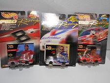 lot of 3 New Hot Wheels Pro Racing Replica Cars 1998 #21, 1998 #8 & 1997 #6
