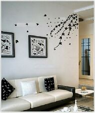 Black Leaves Contemporary Wall Decor Large Huge Home Decoration Flowers JM7028