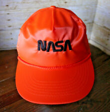 Vintage NASA Hat Cap Satin Silky Look Astronaut Space Exploration Snapback NOS
