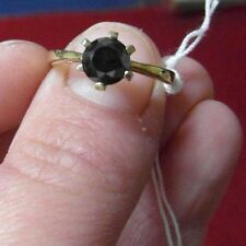 K5 Donna 9CT GRANDE 1CT solitario anello di diamante nero.