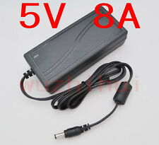 AC 100V-240V Converter Adapter DC 5V 8A 40W Power Supply Charger DC 5.5mm 8000mA