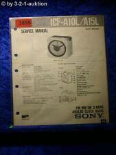 Sony Service Manual ICF A10L / A15L Analog Clock Radio (#3855)