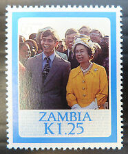 ZAMBIA 1986 Queens Birthday K1.25 SG454a SCARCE Perf Cat £6 U/M BN 978