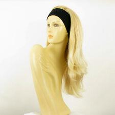 Perruque avec bandeau blond doré méché blond très clair ref BENEDICTE en 24BT613