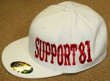 Hells/Hell's Angels R'Side Hats: Support  81  - White  size l / xl