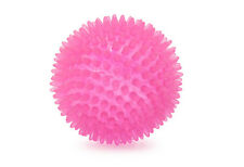 Ancol Neon Pink Spiky Rubber Dental Chewy Bouncing Dog Puppy Fetch Ball 9cm