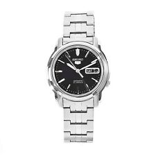 Seiko Men's SNKK71 5 Automatic Stainless Steel Black Dial Watch SNKK71K1