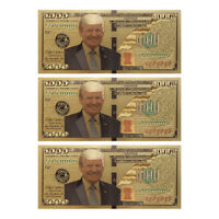 US President Donald Trump New Colorized $1000 Dollar Bill Gold Foil Banknote ON