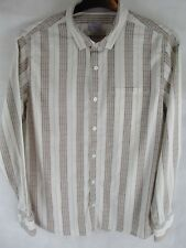 Mens Fat Face Long Sleeve Shirt  Striped Shirt  Size L  Great Used Condition