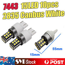T20 7443 Led Bulb 2835 15SMD Canbus Brake Stop Tail Indicator Signal Lights x10