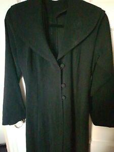 Custom made Womens Gothic Dress Coat Jacket Long Black Victorian riding uk 8