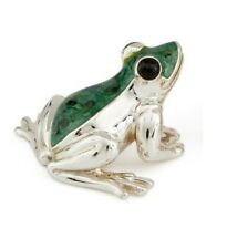 Saturno Silver and Enamel Frog