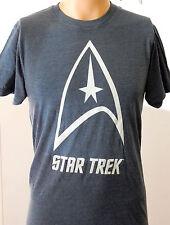 Star Trek Blue Retro Look Soft Small T Shirt Spock Kirk Beam Me Up Scotty