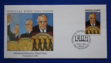 Marshall Islands (266) 1990 WWII: Roosevelt Elected to Third Term Official FDC