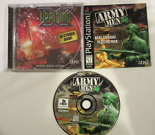 Army Men 3D 3 D Real Plastic Combat Sony PlayStation 1 PS1 Game   FREE SHIPPING