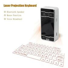 Virtual Laser Projection Keyboard Wireless Bluetooth For PC iPad Silver Black UP