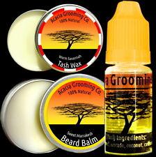 Acacia Grooming Co. | Beard Oil + Balm + Tash Wax | Ourika 10ml | Marrakesh 15ml