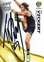 ✺Signed✺ 2016 RICHMOND TIGERS AFL Card TY VICKERY