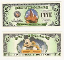 2014 D $5 Thunder Mountain Disney Dollar Crisp From Sealed Pack D Series LAST Yr
