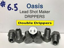 Oasis Lead Shot Maker Double Drippers - #6.5, Set of 7 - Two Hole