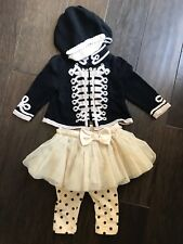 Baby Gap Wonderland Military Band Outfit 3-6 mos with Hat