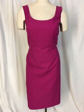 Ann Taylor Size 14 Dress Line Hot Pink Stretch Empire Waist Sleeveless