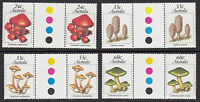 AUSTRALIA :1981 Australian Fungi set  SG823-26 'Traffic Light' gutter pair MNH
