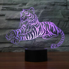 3D LED NIGHT Light Cute Tiger TOUCH TABLE DESK LAMP Beedroom Xmas Christmas GIFT