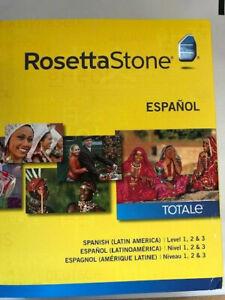 Rosetta Stone Spanish Latin America TOTALe V4 Levels 1-3 (Retail) NEW