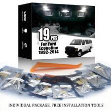 19x For Ford Econoline 1992-2014 Car Interior LED Lighting Kit White + TOOL