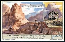 Alps Refuge Tosa Tomaso Pedrotti Brenta c50 Y/O Trade Ad Card