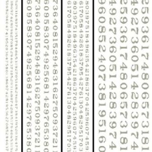 Woodland Scenics DT510 White Railroad Roman Numbers Dry Transfer Decals,Graphics