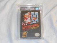 NEW Super Mario Bros. Nintendo NES VGA 75 EX+/NM Graded Silver Sealed brothers 1