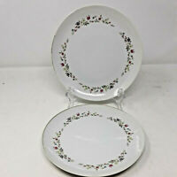 2 Spring Garden Pink Rose Salad Plates Fine China of Japan 7 3/4""