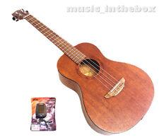 "Woodnote Great 30"" Mahogany with Brown Inlaid Baritone Ukulele + Metro Tune"