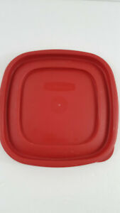 """Rubbermaid 7J64 Red Replacement Lid Cover 6.5"""" Square"""