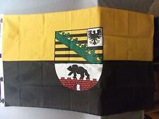 Fahne Sachsen - Anhalt, Größe 90cmx 150cm, 100% Polyester gebraucht