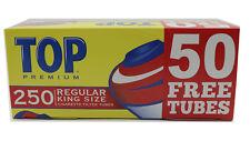 Top King Size Cigarette Filter Tubes Full Flavor Red box 250 Filter Tube New