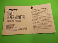 MARLIN MODEL 336T LEVER ACTION OWNER'S MANUAL