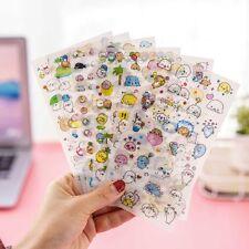 6Pcs Cute Cartoon Korean Decorative Stickers Adhesive Stickers DIY Sticker New