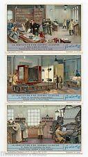 S1294 *  LA CONFECTION D'UN JOURNAL ILLUSTRE . 1934 . Série complète . LIEBIG