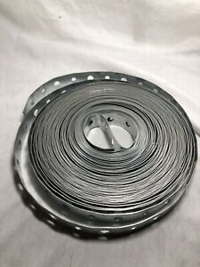 "50ft Roll Metal Hanger Strap Perforated Galvanized Steel 3/4""x50' USA 22G"