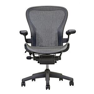 Herman Miller Aeron Mesh Office Desk Chair Medium Size B Basic